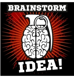 Brainstorm - idea Brain Grenade vector image