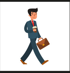 business man character vector image