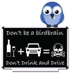 Drink and drive message vector