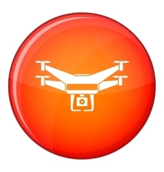 Drone video camera icon flat style vector image vector image