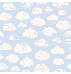 Grange clouds pattern vector
