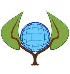 Nature keeps the planet vector image vector image