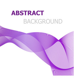 purple line wave abstract background vector image vector image
