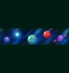 seamless fantastic space background vector image