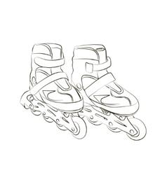 Sketch Roller skates vector image