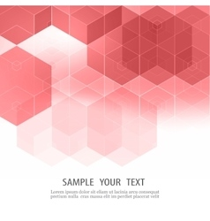 abstract pink flyer design with geometric vector image