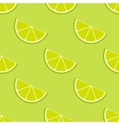 bright lime slices seamless background vector image
