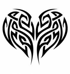 tribal tattoo heart vector image vector image