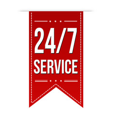 247 service banner design vector