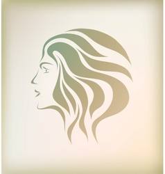 Abstract face beautiful girl vector image