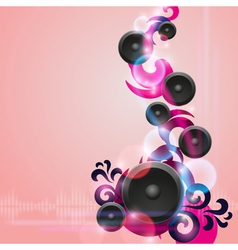 Abstract music background with speakers vector