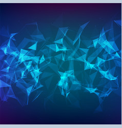 Abstract particles and lines vector