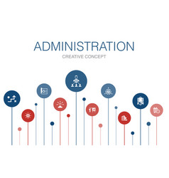 Administration infographic 10 steps template vector