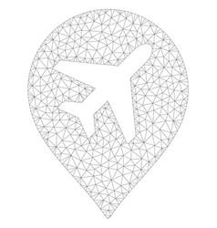 Airplane polygonal frame mesh vector