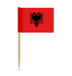 Albania flag toothpic 10eps vector
