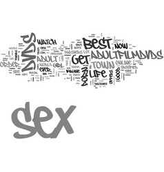 Are you satisfied with your sex life text word vector