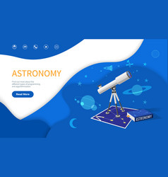 Astronomy subject school discipline studies page vector