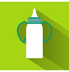 Baby milk bottle vector image