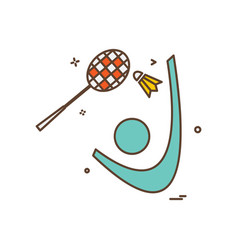 badminton icon design vector image