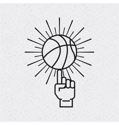 basketball league emblem classic vector image