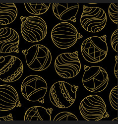 beautiful monochrome black and gold pattern vector image