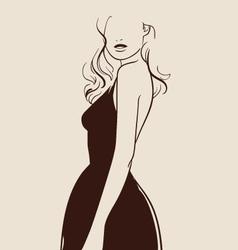 Beautiful woman hand drawn vector