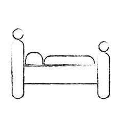Bed icon image vector