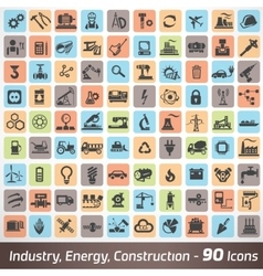 big set industry engineering and construction vector image