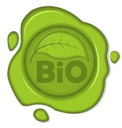 bio wax seal vector image