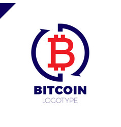 Bitcoin exchange logotype letter b in circle with vector