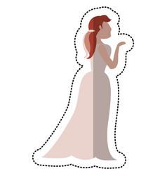 bride wedding standing pose vector image