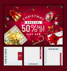 Christmas social media promotepromotion post vector