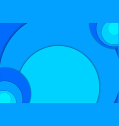circle blue abstract landscape 3d background with vector image