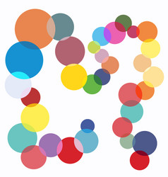 Color magic circles party pattern special spotted vector