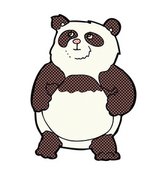 Comic cartoon panda vector