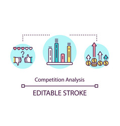 Competition analysis concept icon vector
