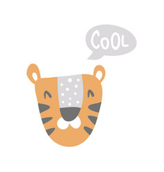 cool tiger vector image