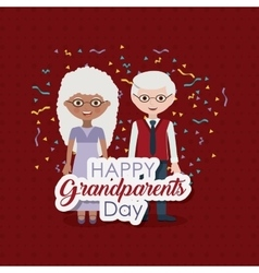 Couple of grandparents design vector