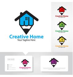 Creative home logo designs vector