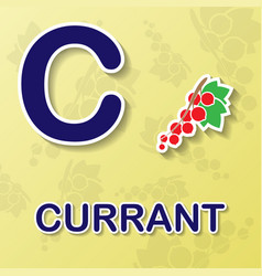 Currant alphabet background vector