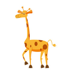 cute giraffe animal trend cartoon style vector image