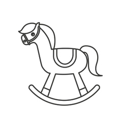 Cute horse toy icon vector