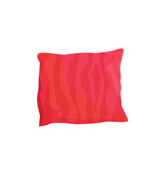 Cute red cushion colorful vector