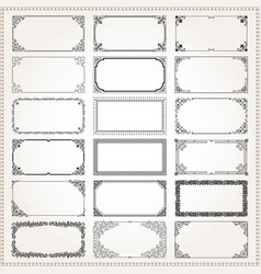 decorative frames and borders rectangle 2x1 vector image