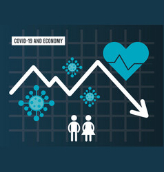 Economic recession infographic with arrows vector