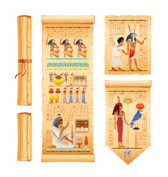 Egyptian papyrus with from tomb vector