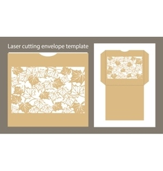 Envelope template for laser cutting vector