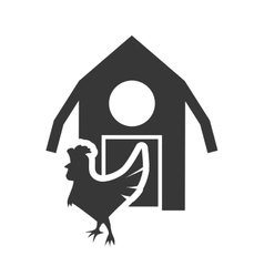 Farm building silhouette design vector