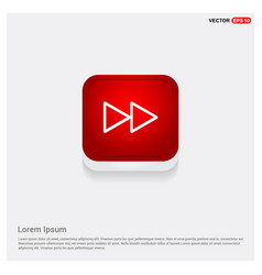 Fast forward icon vector