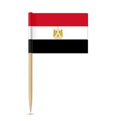 flag egypt toothpick on white background vector image